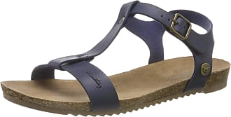 Mustang 1307-803-820, Womens T-Bar Sandals, Blue(Navy 820), 6.5 UK (40 EU)
