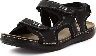 Urban Jacks Mens Easy Fasten Sporty Black Sandal - Size 10 UK - Black