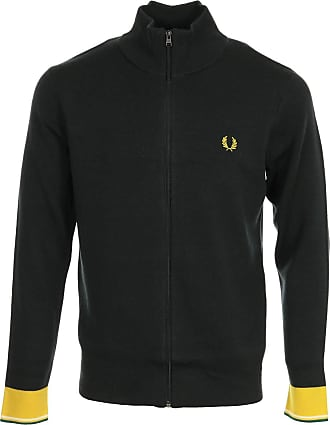 Fred Perry Knitted Track Jacket, Jacket - M Grey