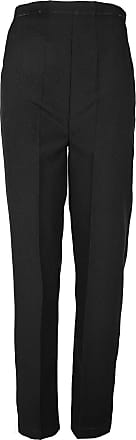 ZEE FASHION Ladies Womens Elasticated Waist Stretch Work Office Trousers Pockets Pants Black