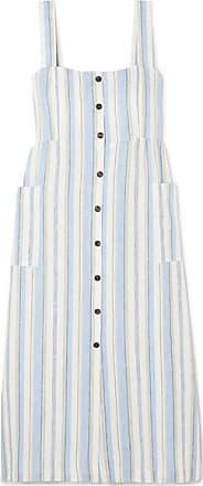 Giuliva Heritage Collection The Giuditta Striped Linen Dress - Light blue