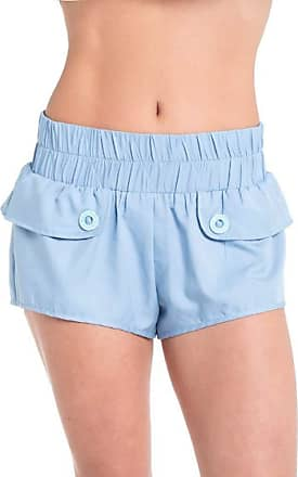Red Nose SHORTS TACTEL FEMININO CANDY - RED NOSE AZUL PP