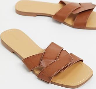 Pimkie cross over slider sandal in tan
