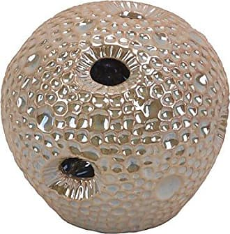 Sagebrook Home 10637 Decorative Ceramic Sea Urchin Orb, Beige Ceramic, 5.5 x 5.5 x 5 Inches