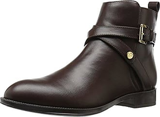 a526fb7b33092 Tommy Hilfiger Womens Rambit Ankle Bootie Dark Brown 9.5 M US