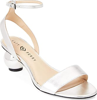 Katy Perry Womens The Adventure Open Toe Casual Ankle Strap, Silver, Size 10.0 U US