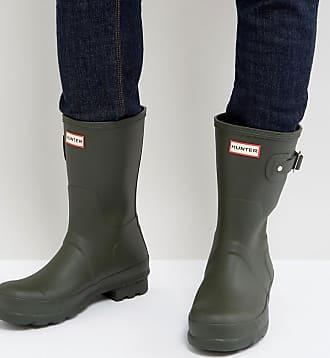 Hunter Original - Stivali da pioggia corti verdi - Verde 305440fd434
