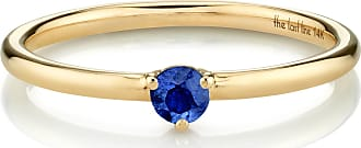 The Last Line Solitaire Blue Sapphire Ring
