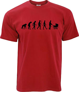 Tim And Ted Parenthood T Shirt Evolution of A Family New Born Baby - (Red/Large)