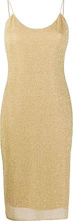 Oséree glitter detal slip dress - Dourado