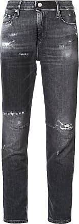 Rta Calça jeans skinny com efeito desbotado - Preto