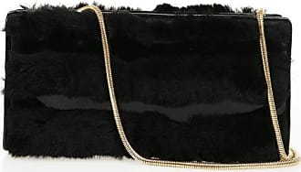 Viktor & Rolf Real fur Clutch with gold tone Chain Größe Unica