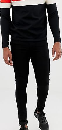 Collusion x001 super skinny jeans in black
