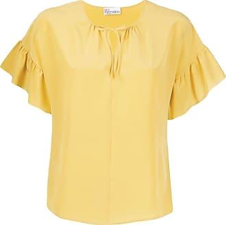 Red Valentino Blusa com babados nas mangas - Amarelo
