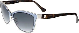 Balenciaga BA0084 89B Clear Light Blue and Tortoise Wayfarer Sunglasses