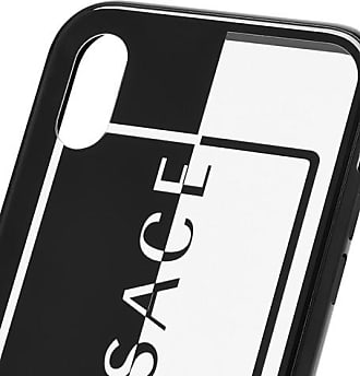 Versace Logo-print Acetate Iphone X And Xs Case - Black