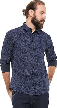 Colcci Camisa Colcci Slim Floral Azul-marinho