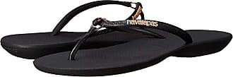 Havaianas Ring Flip Flops (Black/Black) Womens Sandals