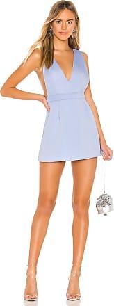 Superdown Kaelyn Pinafore Dress in Blue