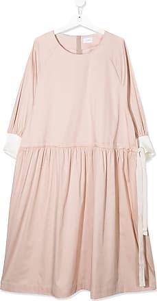 Unlabel Vestido com cordão de ajuste e acabamento engomado - Rosa