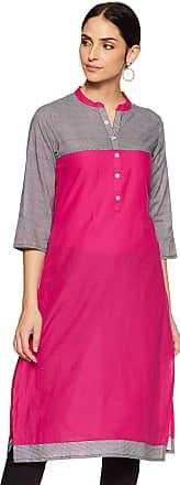 Indigo Womens Cotton Straight Kurti (SS-19/GFT-037 A_ Blue_ X-Large)