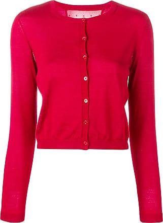 Red Valentino round neck cardigan - Vermelho