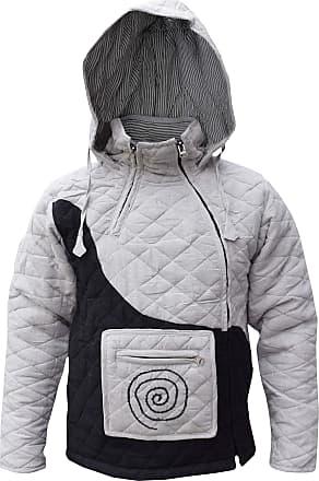 Gheri Quilted Hemp Puffer Cotton Lined Winter High Neck Jackets Jumper Coat Medium