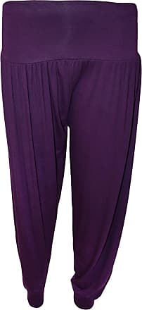 WearAll Ladies Harem Pants Womens Leggings Hareem Trousers - Purple - 12-14