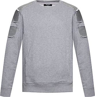 Balmain Sweatshirt With Pockets Mens Grey