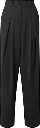 McQ by Alexander McQueen Pleated Twill Straight-leg Pants - Black