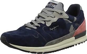 Pepe Jeans London London Mens Tinker Pro Racer Camu Low-Top Sneakers, Blue (Navy 595), 7.5 UK