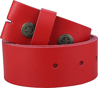 2Store24 Real Leather Snap on belt in red | Waist size 125