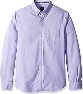 9be7743e GANT Mens The Fitted Oxford Shirt, Aster Purple, L