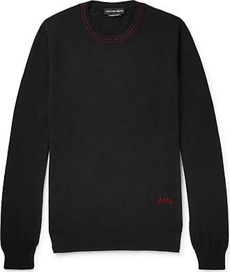 Alexander McQueen Logo-embroidered Cashmere Sweater - Black