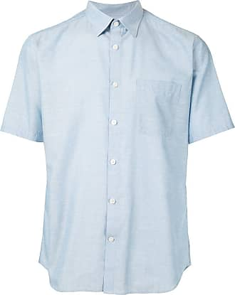 Durban button up short-sleeved shirt - Azul