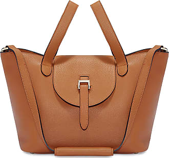 Meli Melo Meli Melo Thela Medium Tan Brown Leather with Zip Closure Tote bag for Women