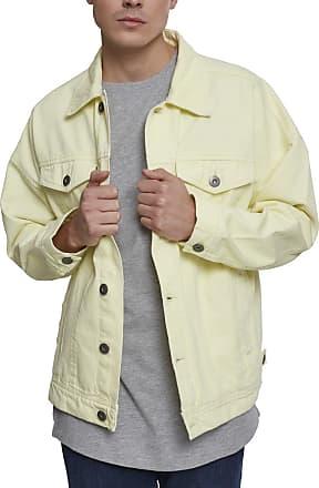 Urban Classics Mens Oversize Garment Dye Jacket Denim, Yellow (Powder Yellow 01323), XL