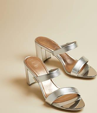 Ted Baker Silver Heeled Mule Sandal in Silver RAJORAM, Womens Accessories