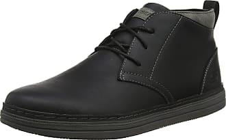 Skechers Mens Heston Classic Boots, Black (Black Leather Blk), 10.5 UK (45.5 EU)