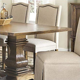 Coaster Fine Furniture Parkins Parson Chairs Ivory and Rustic Amber (Set of 2)