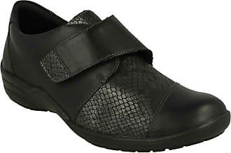 Remonte Ladies Casual Flat Shoes R7628-02 - Black Combi Leather - UK Size 6 - EU Size 39 - US Size 8