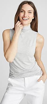 Contemporaine Fluid jersey sleeveless mock neck