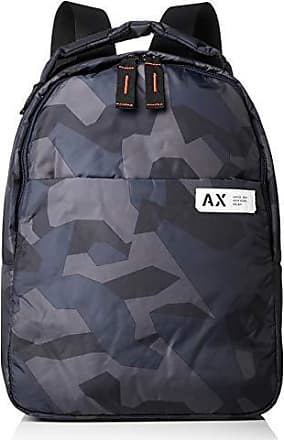 A X Armani Exchange Armani Exchange Mens Nylon Backpack, Camouflage Blue,  ONE Size 518c3f761f
