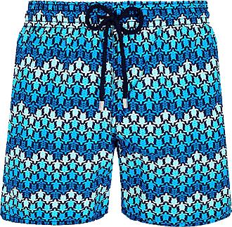 Vilebrequin Vilebrequin Moorea Schwimmen kurze Fischgrätenschildkröten Azul Marino - large