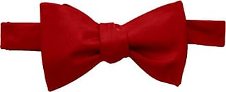 Tommy Hilfiger Mens Core Solid Bow Tie, Red, One Size