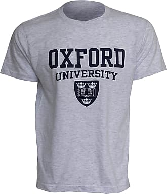 Oxford University Mens Print Short Sleeve Casual T-Shirt/Top (XXL - 50inch - 52inch) (Sport Grey)