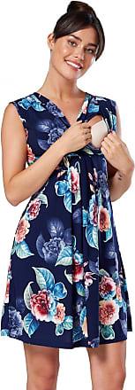 Zeta Ville Zeta Ville - Womens Maternity Nursing A-line Dress V-Neck - Sleeveless - 808c (Style 2, UK 18, 3XL)