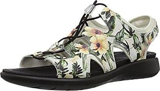 Ecco Womens Womens Soft 5 Toggle Sandal, White/Flower Print, 36 M EU (5-5.5 US)