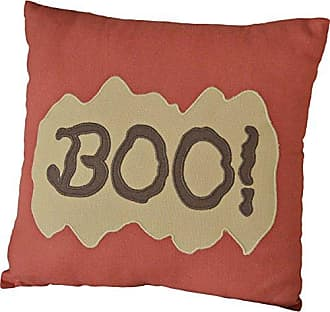 VHC Brands Harvest & Thanksgiving Holiday Pillows & Throws - Boo Orange 12 x 12 Pillow