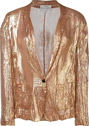 Forte_Forte lightweight shimmer blazer - Gold